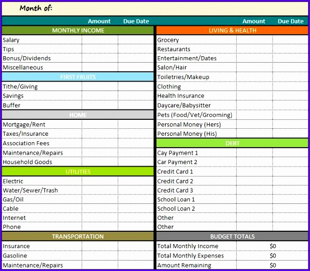 Example Budget Template In Excel Vacvw Luxury Personal Bud Template Excel Madrat 684593