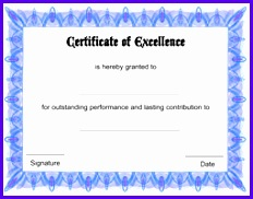 Free Certificate of Excellence 1 232182