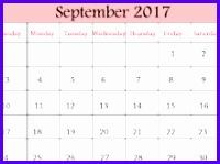 September Calendar 2017 Excel 200149