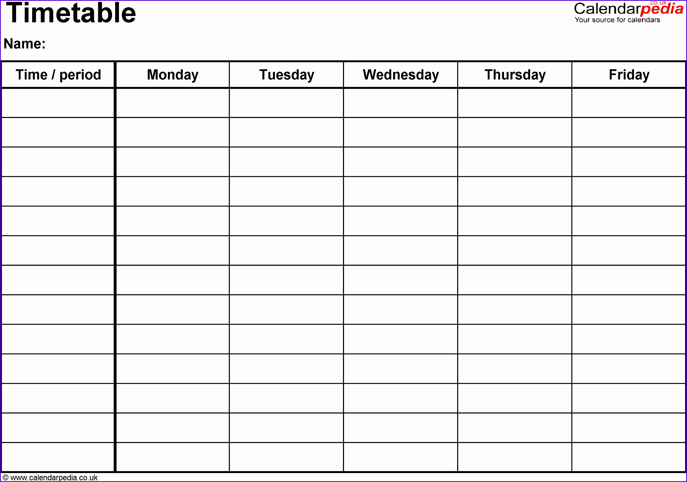 Example Excel Blank Calendar Template Jfdvw New Timetables as Free Printable Templates for Microsoft Excel 28641990