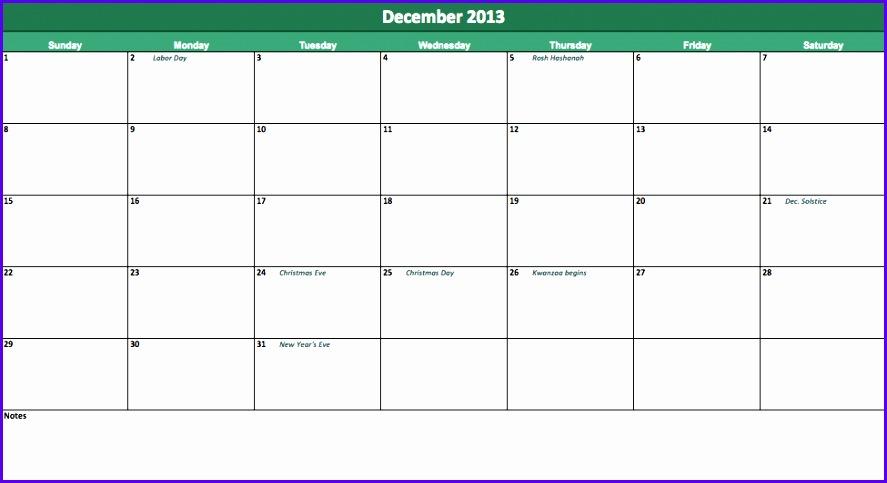 2013 Calendar Excel Excel Templates bVMU17Rq 887483