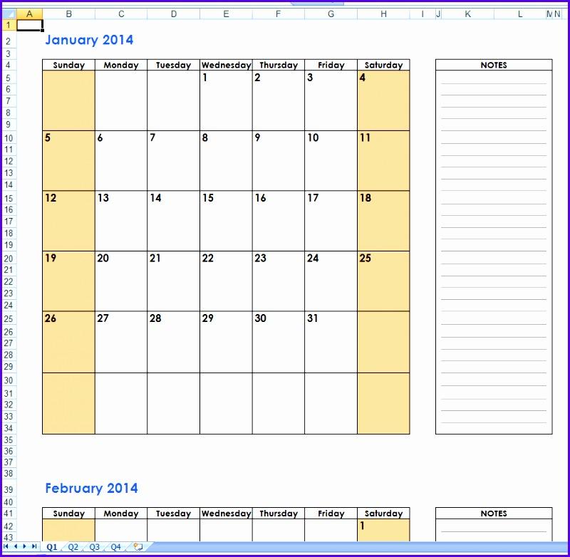 Example Excel Calendar Templates G3suw Inspirational Free 2014 Excel Calendar Templates 880851