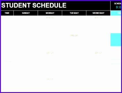 Student schedule TM 422322