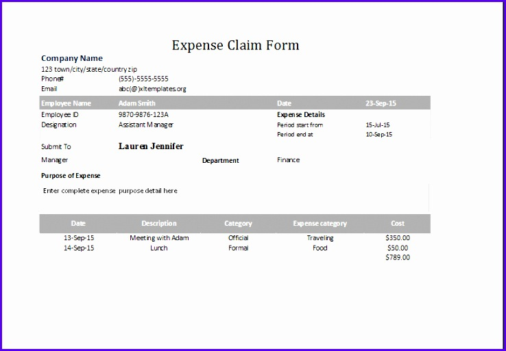 expense claim form 738513