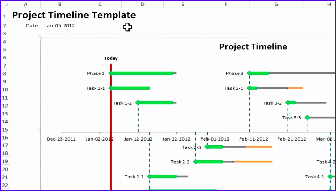 Excel Project Timeline 10 simple steps to make your own Project Timeline in Excel 2010 1164662