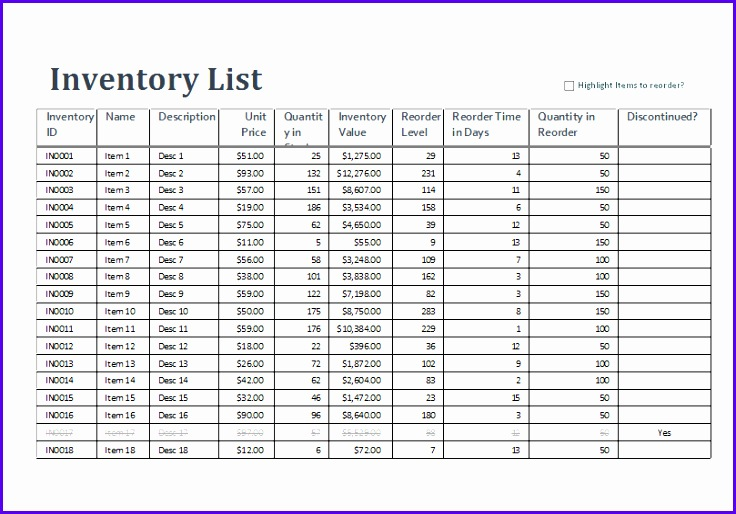 Excel Inventory Sheet Template Word Excel Templates Excel Inventory Templates 736514
