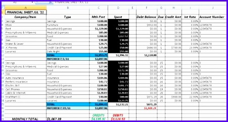 template accounting excel