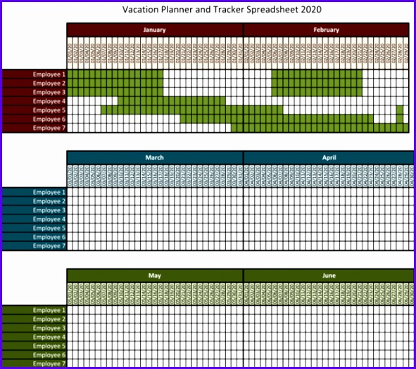 7 Excel Vacation Calendar Template Exceltemplates Exceltemplates