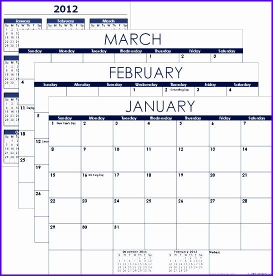 Excel Calendar Template 546552