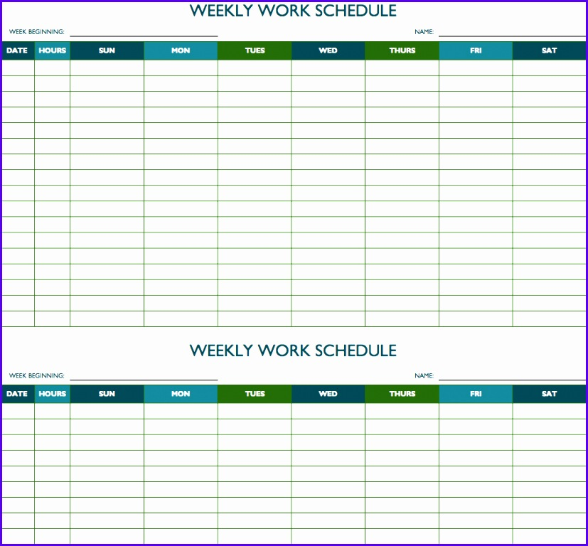 Biweekly Work Schedule Template 827768