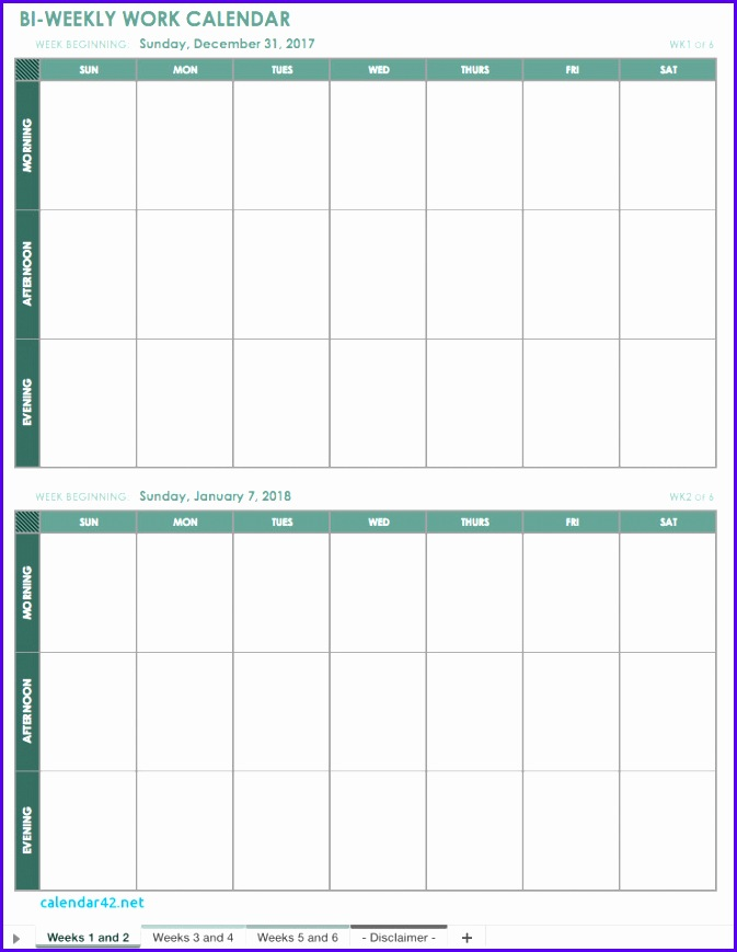2018 Yearly Calendar Excel 673869