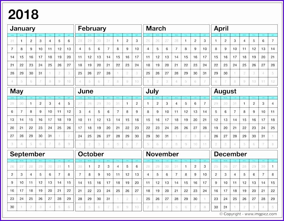 Landscape Calendar For 2018 Single Sheet 904706