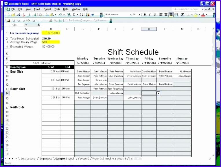 employee work scheduler editable alternate employee work schedule template 764579