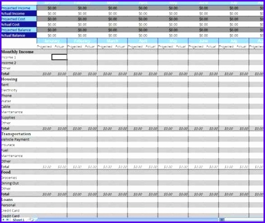 Full Size of Spreadsheet Template monthly Personal Bud Template For Excel 534449