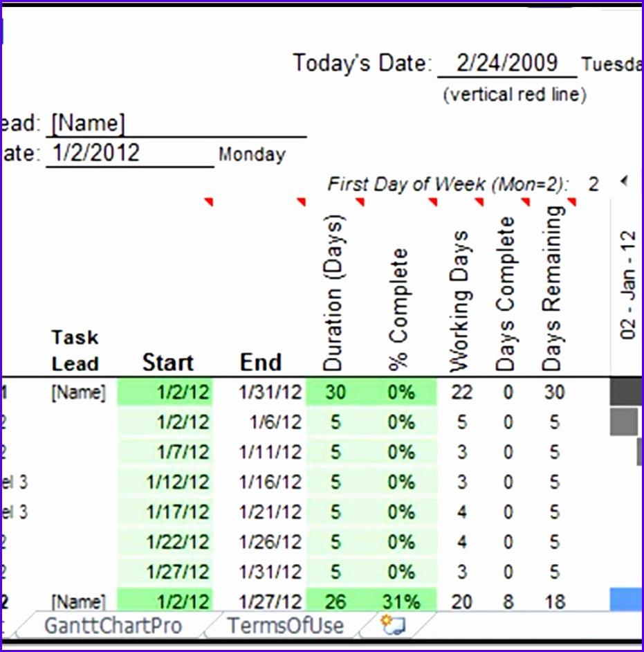 Gantt Chart Excel Template Xls 931942
