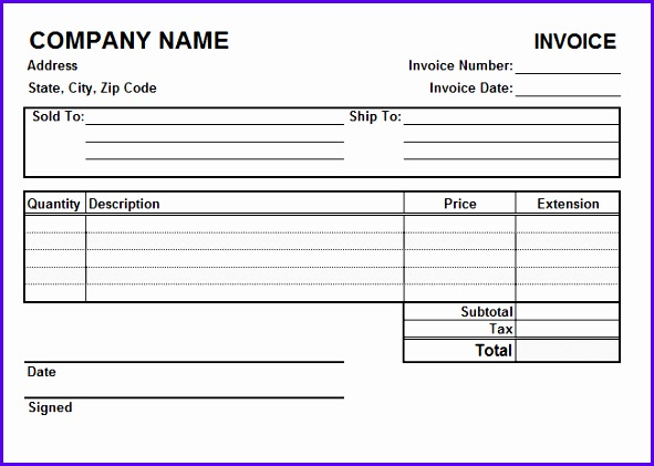 Excel Invoice Template For Free How To Create it