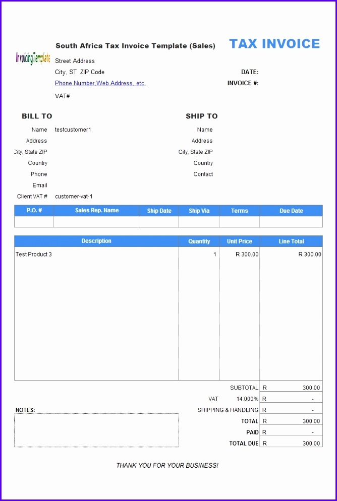 Excel 2007 Invoice Template Free Download Invoice Template Free 2016 Excel Invoice 735 X 1081 668994