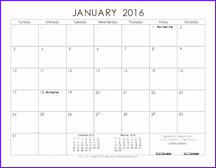 2016 Calendar Template Screenshot 691539