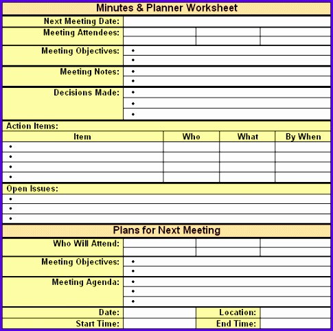 meeting minutes template 33 485482