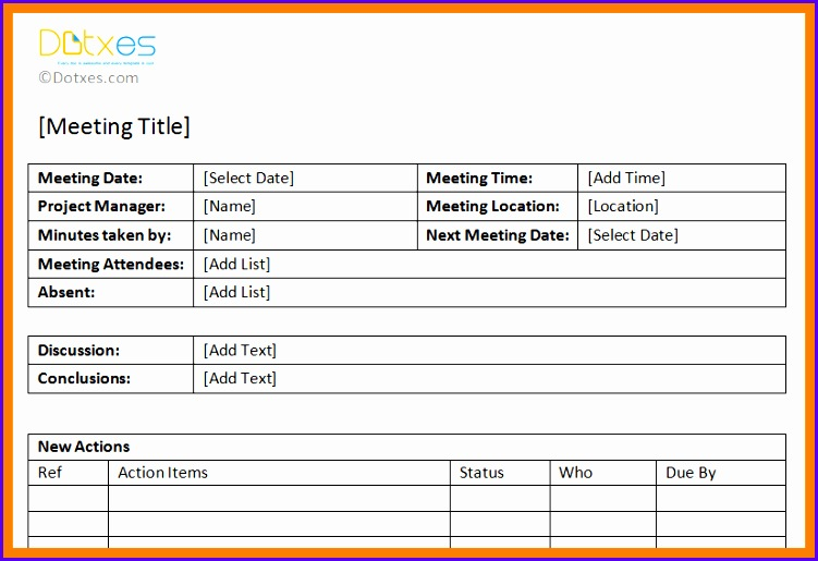 meeting minutes template excel format Action item meeting minutes template Featured Image 751515