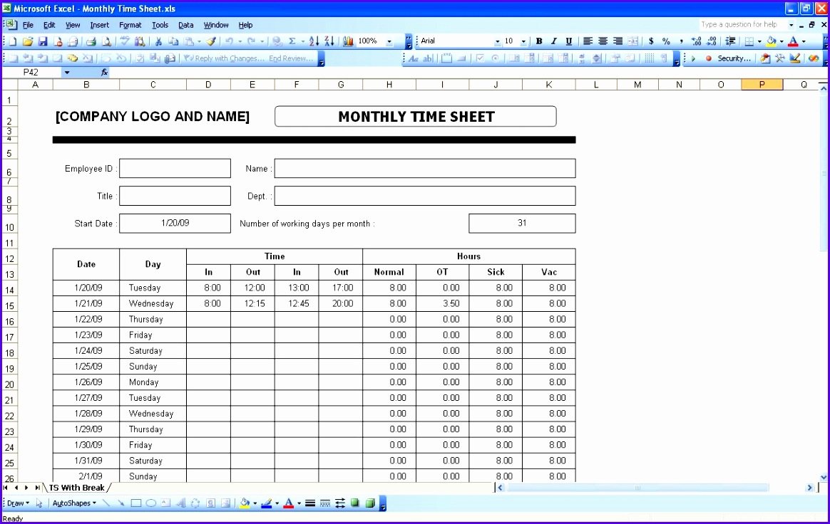 Example Monthly Timesheet Template Excel Ovqfx Best Of Timesheets Xls Twentyeandi 1280800