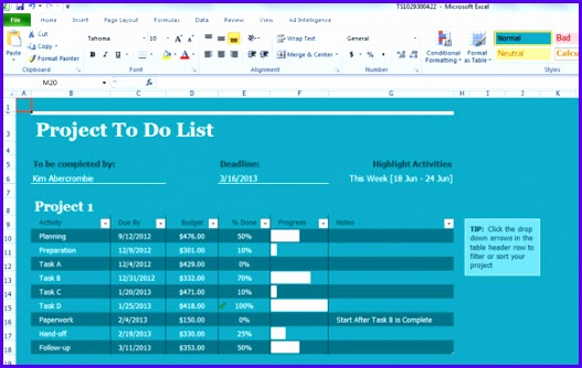 Example Task List Excel Template Vb3om Lovely Task List Template for Excel 2013 580364