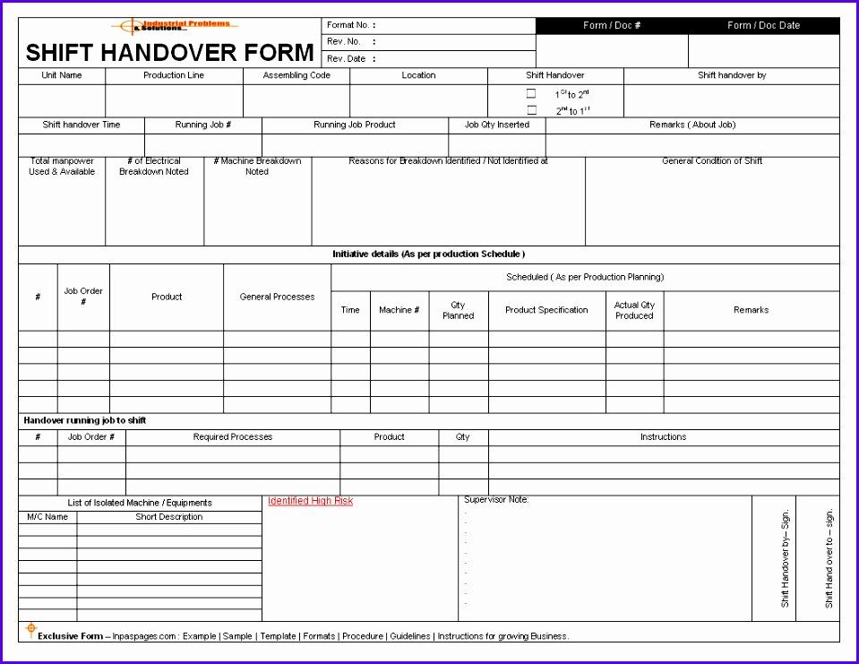 Shift Handover Template Excel Calendar Template Excel – KukkoBlock Templates 959741