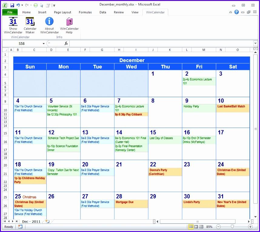Calendar Maker & Calendar Creator for Word and Excel 858767