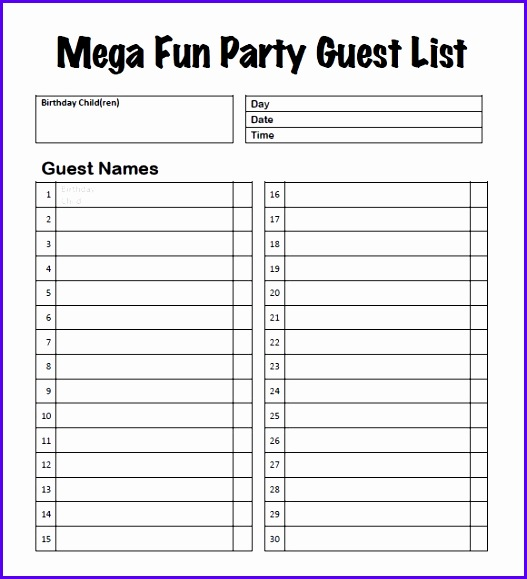 Free Wedding Guest List Template Excel Sample Guest List 8 Documents In Pdf Word Excel 527579