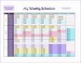 7 Week Planner Template Excel