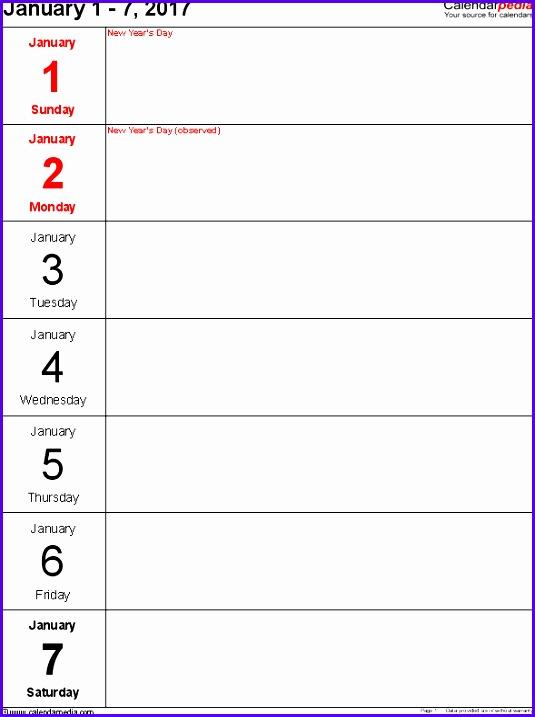 Example Week Planner Template Excel Mgwad Best Of Weekly Calendar 2017 for Excel 12 Free Printable Templates 589780