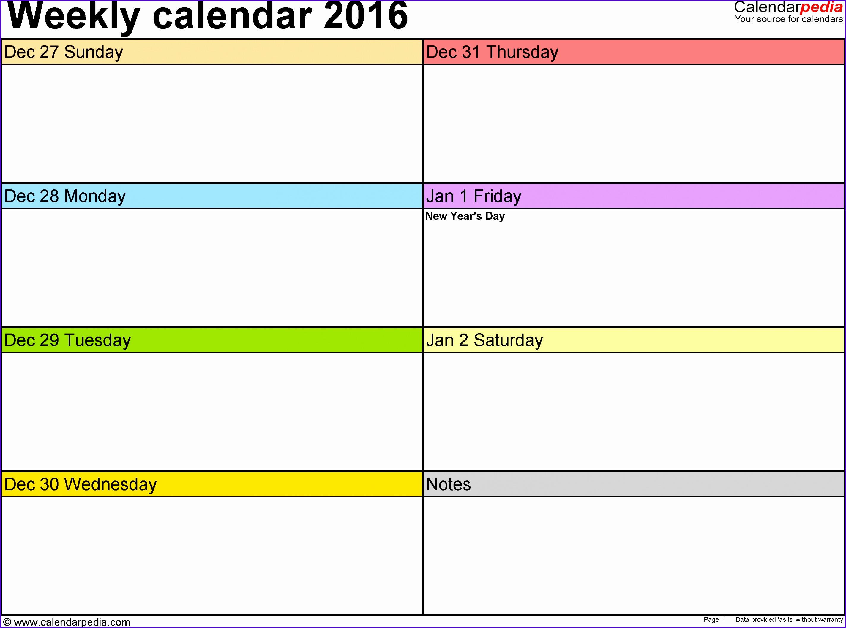 week calendar 28482116