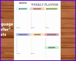 Example Weekly Planner Template Excel soisw Best Of Hourly Weekly Planner Printable & Editable Daily Hourly 340270