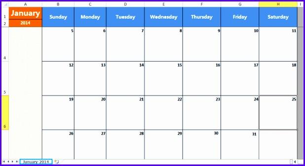 Insert a monthly calendar 618337