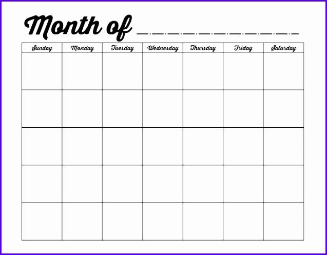 monthly calendar template blank calendar 2017 xMJphT 637497