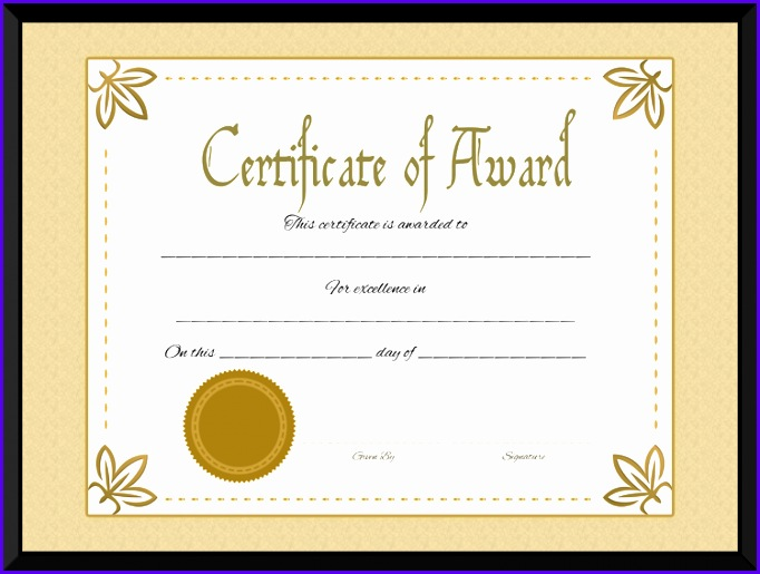 Download options for Award Certificate of Excellence Template 682515