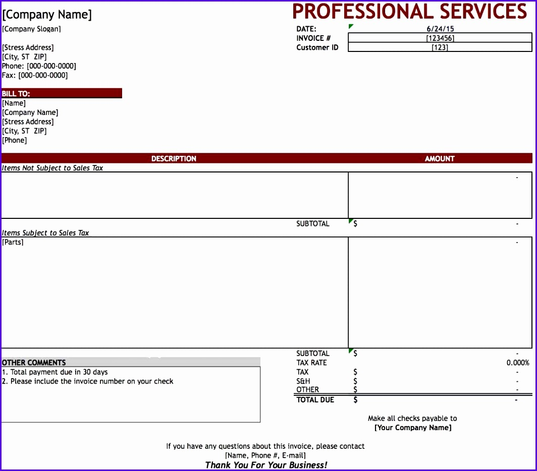 Consulting Invoice Template Excel ExcelTemplates ExcelTemplates - Billing invoice template excel