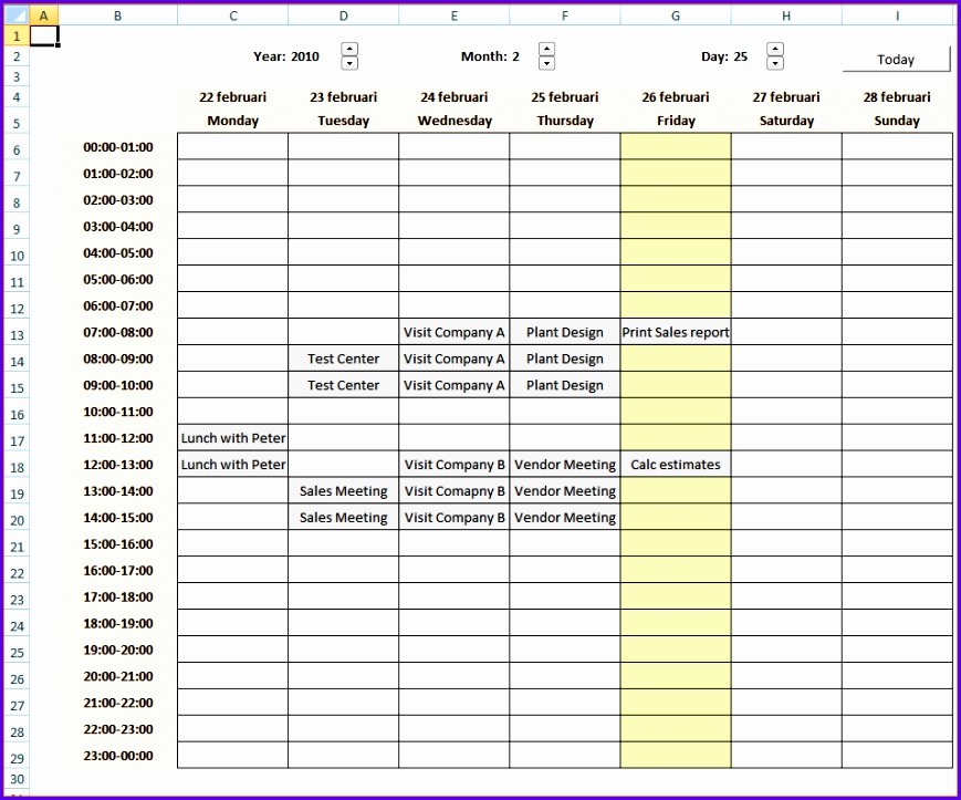 can the excel calendar file here excel calendar xlsm you need 869723