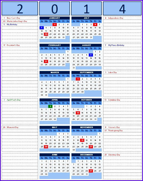 Examples Excel 2013 Calendar Template Ekver Luxury 2014 Calendar