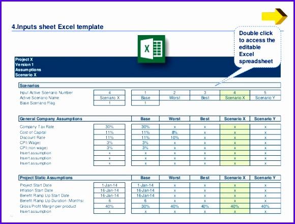 scenario 32 3232 4 Inputs sheet Excel template 580440