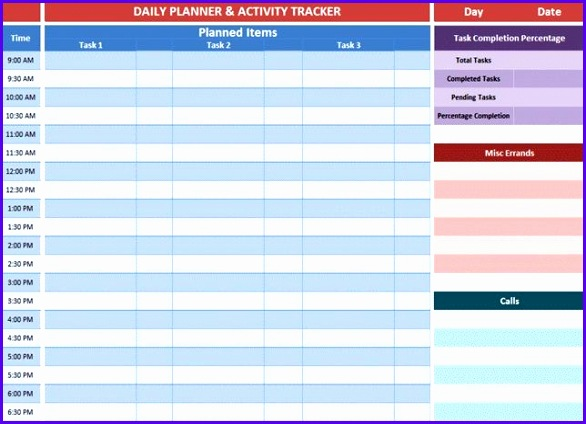 Examples Excel Daily Planner Template Hlhsc Unique Excel Daily Calendar Madrat 644461