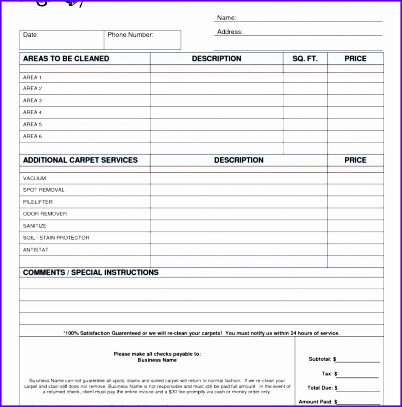Free Estimate Invoice Template And Templates Excel Forms 789798