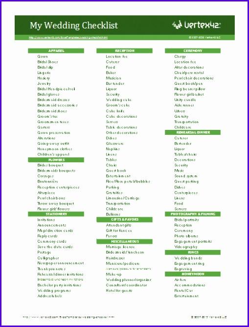 Wedding Planning Checklist 509667