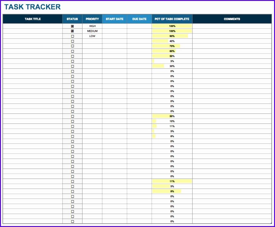 personal task tracker templates smartsheet Download Excel Template 907750