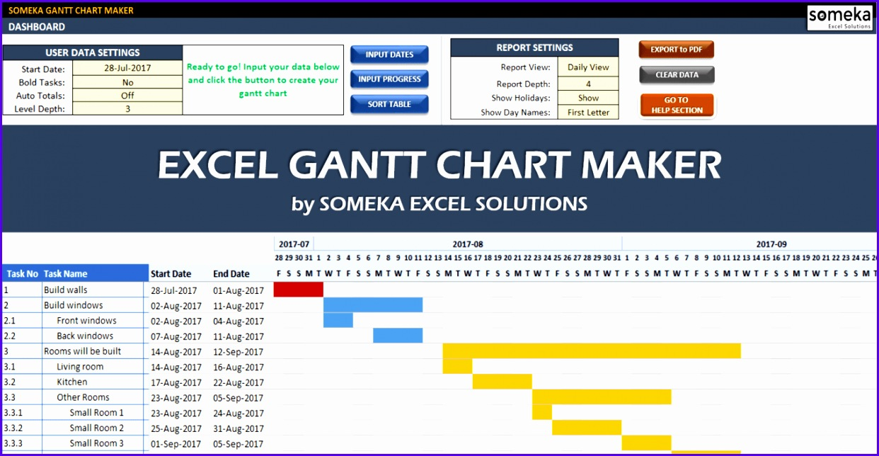Excel Gantt Chart Maker Template Someka Cover