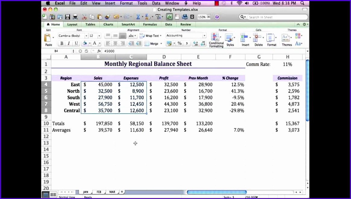 Excel Mac 2011 Templates