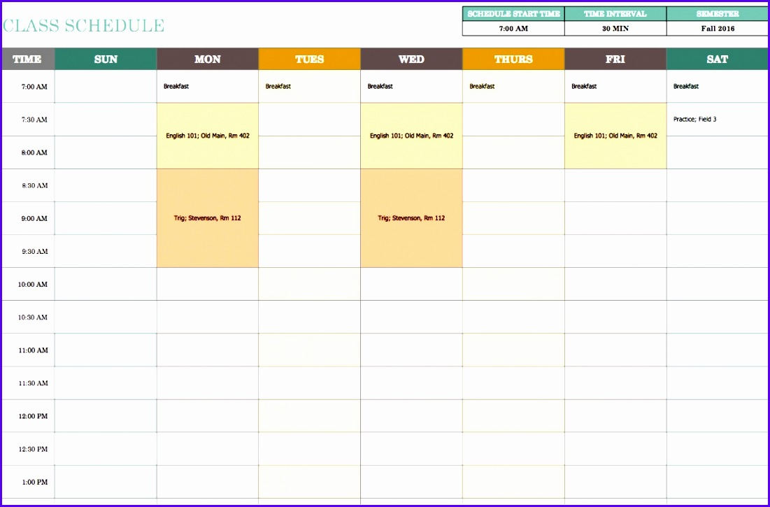 Schedule Template Weekly Bwqyz Luxury Free Weekly Schedule Templates for Excel Smartsheet 1101725