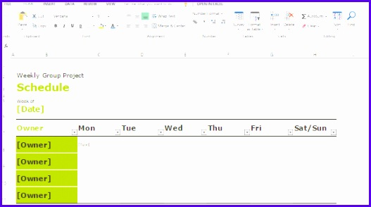 convenient weekly group schedule template for team manager 527294