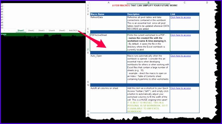 Excel Template Workbook — With Macros Worksheet 777437
