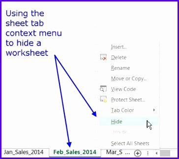 Hide Worksheets in Excel